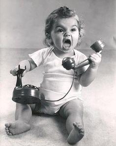 """I'm on the phone!""........hmmmmm...like two little girls i know. :))))))"