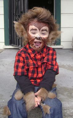 Homemade Classic Werewolf Costume for my son Jeff who had to endure my werewolf costume when he was younger! (Diy Costume For Boys) & Use an old pair of shoes some yellow foam from a craft Store and ...