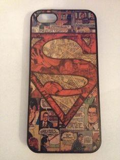 Superman Superhero Comic Book Vintage DC Comics Dark NEW iPhone 5s 5 5c 5C 4 4s #ForAppleiphone44s55s5c5C