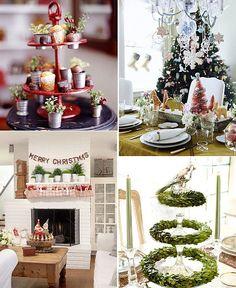Artículos y utensilios de cocina utilizados en la decoración navideña... #navidad