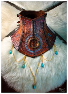Leather Neck Corset Posture Collar Amazonian by DJorgensenLeather, $350.00