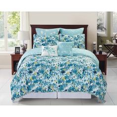 Shop for Devon 6 - 8-piece Reversible Blue Floral Comforter Set. Get free shipping at Overstock.com - Your Online Fashion Bedding Outlet Store! Get 5% in rewards with Club O! - 18523786