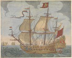 1654 De Gouden Leeuw was het vlaggenschip van luitenant-admiraal Cornelis Tromp, de zoon van Maarten Tromp.  De Gouden Leeuw werd voor de Admiraliteit van Amsterdam gebouwd en het was een schip met twee dekken van kanonnen/kanons, maar heeft drie doorlopende dekken, met in totaal 82 kanonnen (in marine taal kanons), met de zwaarste kanonnen met het verste bereik op de onderste geschutsrij.