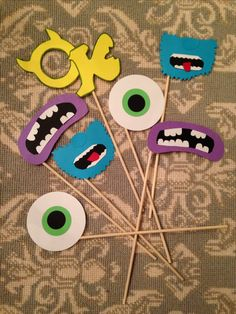 Monsters Inc Photo booth props; Monsters U photo booth props