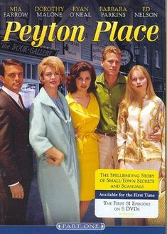 PEYTON PLACE pioneered the very genre of primetime soap, running for over 500 straight episodes with no repeats (a feat unmatched by any series before or since). Based on the infamous novel by Grace M Great Memories, Childhood Memories, Vintage Television, Old Shows, Great Tv Shows, Tv Episodes, Vintage Tv, Classic Tv, Old Movies