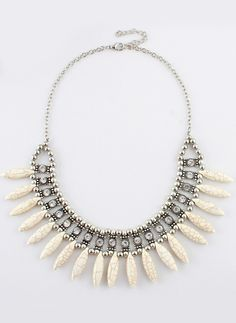 Gold Bead Diamond Chain Necklace 6.99