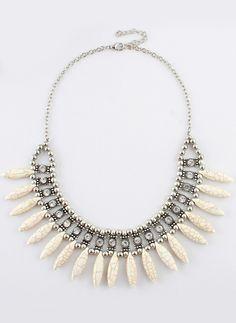 Gold Bead Diamond Chain Necklace 6.99