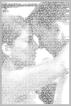 This website creates art out of your pictures and words of your choice...wedding photos with vows, first dance pic with words of the song, pic of friends with quotes of favorite movies or songs...