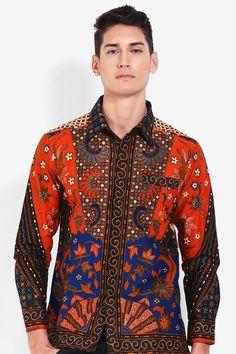 Batik Arjuna Weda Kemeja Batik Sinaran 2 Biru