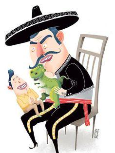 Neomachismo: Hombres chilenos admiten relevancia de participar en el desarrollo de los niños, pero la mitad cree que cambiar pañales o darles comida es tarea de las mujeres Funny, Child Development, Bicycle Kick, Trends, Illustrations, Men, Food, Women, Funny Parenting
