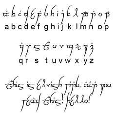 """Résultat de recherche d'images pour """"lord of the rings font alphabet"""""""