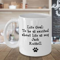 FUN JACK RUSSELL GIFT There is nothing like a Jack Russell and once you have one or know one, you are in love. Celebrate the love of this wonderful dog breed by giving a gift that will bring joy and a smile. INEXPENSIVE BUT IMPACTFUL This is an under $20 gift that the Jack Russell dog lover in your life will LOVE, and theyll see it every morning when they make their cup of joe. HIGH QUALITY This 11oz ceramic coffee mug is dishwasher and microwave safe. You can wash and re-wash with no…