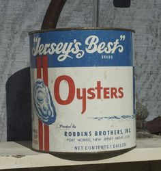 Jersey's Best Brand Oyster Tin - Port Norris, NJ