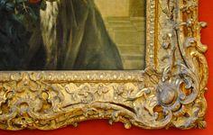 Louis XV frame. 18th century. Louvre museum, Paris