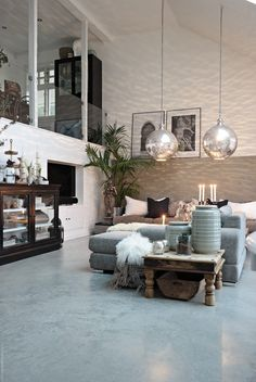 I love the light fixtures and the pieces they chose to decorate the space.