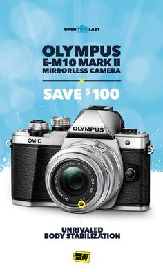 PHOTO TIP: Make your memories move! The Olympus M10 Mark II Mirrorless Camera makes shortcuts and settings easy, while offering unrivaled body stabilization. So record every unwrapping from beginning to end and play with your angles: Close-up, panning lef