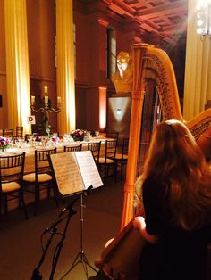 Harpist's view of the statues at the British Museum. #music #events