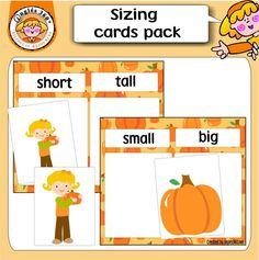 Pumpkins sizing cards - FREE