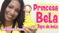 DIY - Princesa Bela Topo de Bolo - Sah Passa o Passo - Desafio Disney Go...