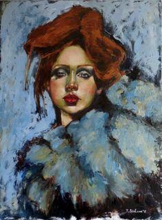 "Saatchi Art Artist Tatiana Siedlova; Painting, ""Josephine"" #art"