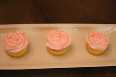 Dainty Pink rosette cupcakes