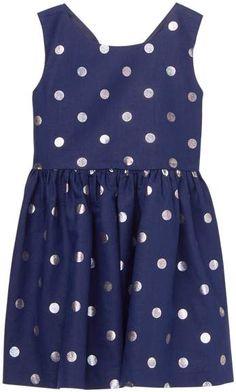 1aba3e6fd3fe Baby Girl Silver Dot Shimmer Dot Dress by Gymboree
