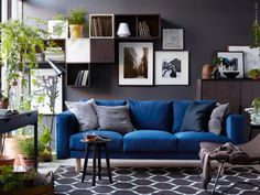 Ikea Norsborg sofa  This would be hot if the couch were navy..