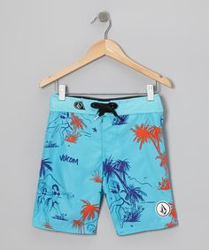 Take a look at this Blue 45th St Boardshorts - Toddler & Boys by Volcom on #zulily today!