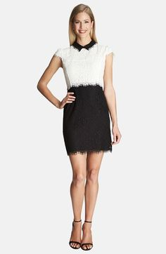 CeCe by Cynthia Steffe Colorblock Floral Lace Dress available at #Nordstrom