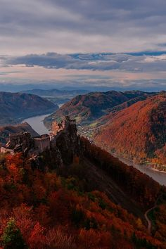 Aggstein Castle, a ruined castle on the right bank of the Danube in Wachau, Austria | by Poecky23