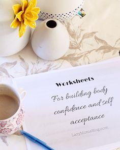 These free worksheets are designed specially to help you feel better about your body, gain self confidence and grow self acceptance. Over 20 pages of questions for you to answer, mantras and encouragement. These free worksheets are perfect for anyone who Therapy Worksheets, Free Worksheets, Therapy Activities, Building Self Confidence, Confidence Tips, Counseling Teens, Self Esteem Activities, Activities For Teens, Group Activities
