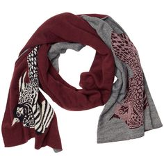 Luna Scarf ($25) ❤ liked on Polyvore featuring accessories, scarves, sciarpe, cult wine, bird scarves and monki