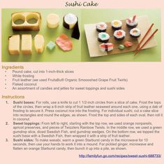 How to make a sushi cake.  #sushi