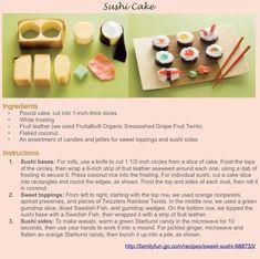 How to make a sushi cake.  #sushi