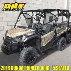 With a 3-Passenger contoured bench seat, QuickFlip® seating and a tilt bed this 2016 #Honda #Pioneer offers comfort and flexibility. Come see it at #DHYMotorsports