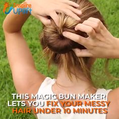 Magic Bun Maker 😍 – New Ideas - Langhaarfrisuren Braided Hairstyles, Cool Hairstyles, Diy Hair Updos, Hair Dos, Hair Designs, Hair Hacks, Your Hair, Curly Hair Styles, Hair Care