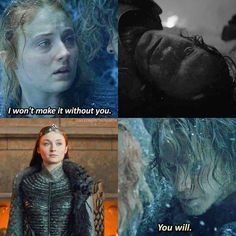 Sansa stark and theon greyjoy Game Of Thrones Meme, Game Of Thrones Theon, Valar Dohaeris, Valar Morghulis, Sansa Stark, Winter Is Here, Winter Is Coming, Movies And Series, Movies And Tv Shows
