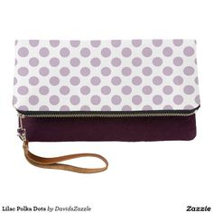 Lilac Polka Dots Clutch Bag   Available on many products! Hit the 'available on' tab near the product description to see them all! Thanks for looking!     @zazzle #art #polka #dots #shop #chic #modern #style #circle #round #fun #neat #cool #buy #sale #shopping #men #women #sweet #awesome #look #accent #fashion #clothes #apparel #tote #bag #accessories #accessory #compact #mirror #hand #purse #clutch #cosmetic #makeup #messenger #bicycle #lilac #purple #violet #white