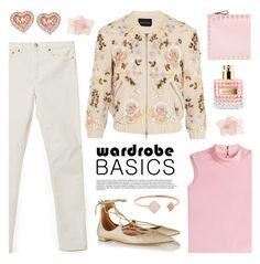 """Wardrobe Basics: Spring Jacket"" by lgb321 ❤ liked on Polyvore featuring Acne Studios, Needle & Thread, Aquazzura, Valentino, Michael Kors, RED Valentino, fashionset and wardrobebasics"