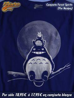 """""""Forest Spirits"""" por #Nasken los espíritus del bosque de la película de #anime #MiVecinoTotoro del gran #HayaoMiyazaki con el entrañable y querido personaje #Totoro! #Camisetas #Cine #Fanisetas http://www.fanisetas.com/camiseta-forest-spirits-p-5211.html"""