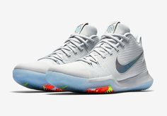 "#sneakers #news  The Nike Kyrie 3 ""Iridescent Swoosh"" Releases Next Week"