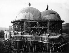 The first Goetheanum being built in 1914.