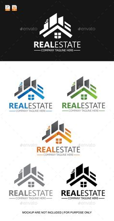 Real Estate Logo Template by askdziner Smart, Clean and Simple Vector Logo Design for your real estate company, perfect for mortgage logo..