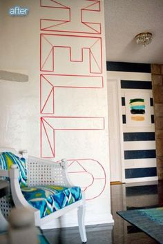 お部屋を簡単イメチェンできる☆マスキングテープで壁をデコレーションしたインテリア | WEBOO[ウィーブー] おしゃれな大人のライフスタイルマガジン