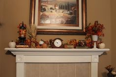 Texas Decor: Fall Decor Part 1 Mantel and Living Room