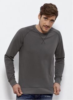 Vintage Joe men's #crewneck #jumper with distressed edging and washed colour. #Fairtrade and made from 85% #organiccotton! Made in Bangladesh.