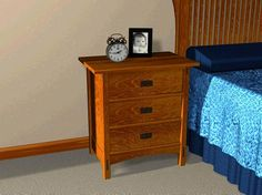 Mission 3 Drawer Night Stand Plans - Furniture Plans
