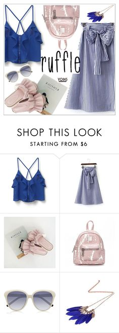 """""""Ruffles"""" by teoecar ❤ liked on Polyvore featuring MANGO, Chloé and ruffles"""