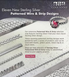Sterling Silver Patterned Wire!