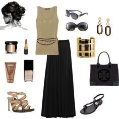 Gold and Black, created by dawndayiannelli.polyvore.com